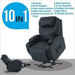 Mecor Power Lift Recliner,Lift Chair for Elderly, Living Room Sofa Chair with Remote Control, Re ...