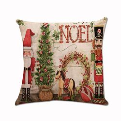 Dressin Christmas Printing Sofa Bed Home Decor Pillow Case,Casual Deer Cover 45X45 cm Pillow Case