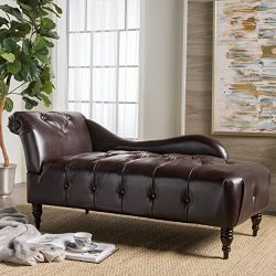 Christopher Knight Home 300527 Antonya Chaise Lounge, Brown