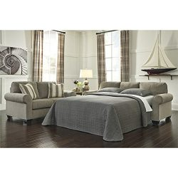 Ashley Furniture Signature Design – Baveria Traditional Style Rolled Arm Sleeper Sofa &#82 ...