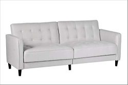 Container Furniture Direct SB-9043 Madelina Modern Fabric Convertible Tufted Sleeper Sofa, 81 ...