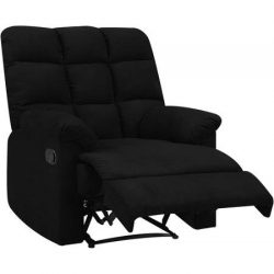 ProLounger Wall Hugger Microfiber Biscuit Back Recliner, Black