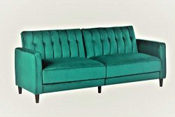 Container Furniture Direct SB-9027 Anastasia Mid Century Modern Velvet Tufted Convertible Sleepe ...