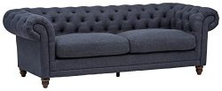 Stone & Beam Bradbury Chesterfield Tufted Sofa, 93″W, Navy