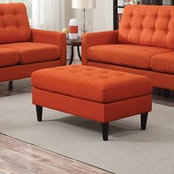 Coaster Home Furnishings 505370 Living Room Sofa Ottoman, Orange