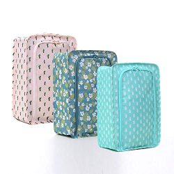 Arxus 3 Pcs Travel Shoe Bag Set Portable Lightweight Waterproof Zipper Organizer Pouch (Printing ...