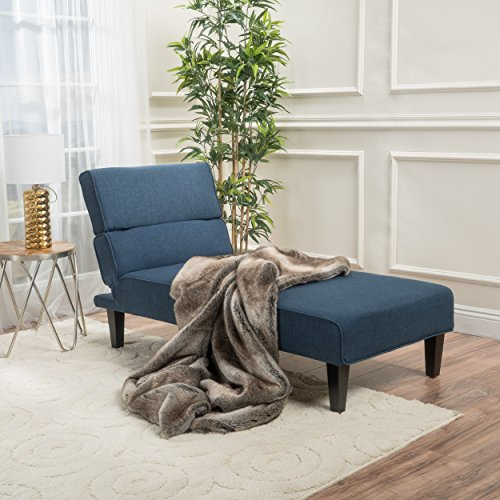 Christopher Knight Home 300004 Astrid Fabric Chaise Dark