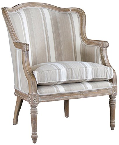 Baxton Studio Striped Charlemagne Traditional French