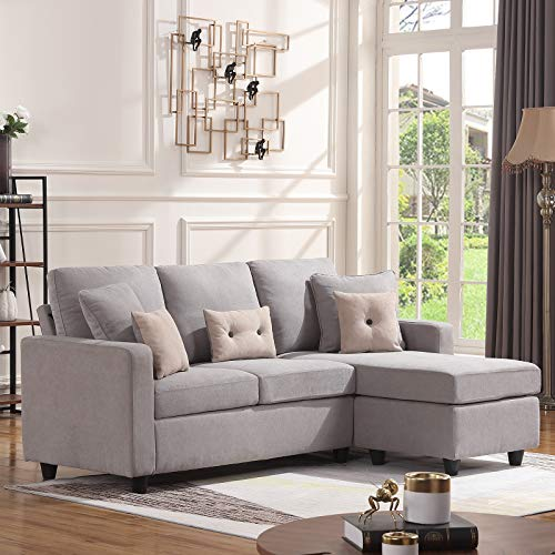 Honbay Convertible Sectional Sofa Couch L Shaped Couch