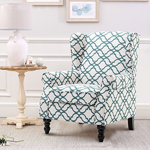 Harper & Bright Designs Wingback Wingchair Modern Accent Chair Fabric Upholstered Armchair L ...