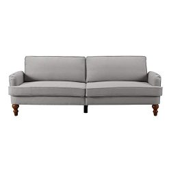 Dwell Home Inc SI-CA-CHA Simmons Charleston Tan Convertible Sofa, One Size