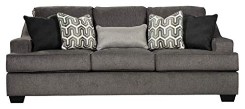 Ashley Furniture Signature Design – Gilmer Chenille Upholstered Sofa w/Accent Pillows R ...