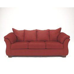 Ashley Furniture Signature Design – Darcy Contemporary Microfiber Sofa – Salsa