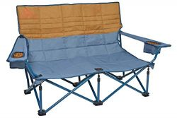 Kelty Low-Love Seat Camping Chair, Tapestry/Canyon Brown – Portable, Folding Chair for Festivals ...
