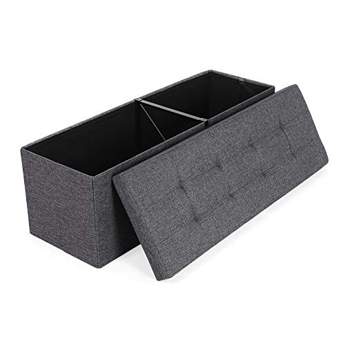 Kids Collapsible Ottoman Toy Books Box Storage Seat Chest: SONGMICS Folding Storage Ottoman Bench Storage Chest Foot