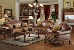 ACME Dresden Living Room Set with Sofa and Loveseat