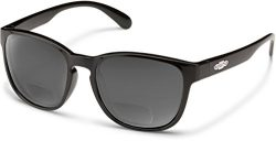 Suncloud Loveseat Polarized Bi-Focal Reading Sunglasses in Black/Grey Lens +1.75