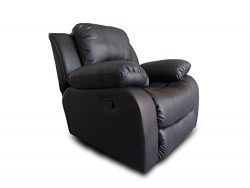 Divano Roma Furniture Bonded Leather Recliner Chair – Overstuffed