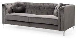 Glory Furniture Pompano G782A-S Sofa, Dark Gray. Living Room Furniture 31″ H x 83″ W ...