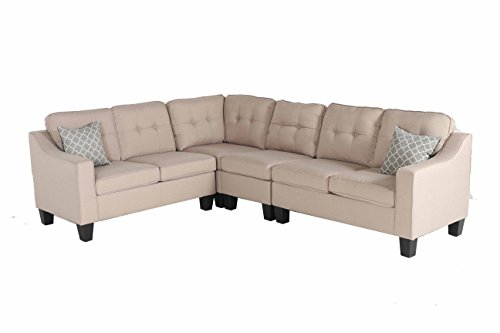 Oliver and Smith Fur_s295lightbeige_Prime Sectional Sofa Beige