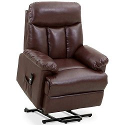 Merax Power Lift Chair Electric Recliner PU Leather Lift Recliner Chair Heavy Duty Steel Reclini ...