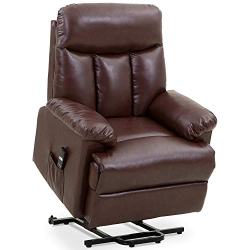 Merax Power Lift Chair Electric Recliner Pu Leather Lift