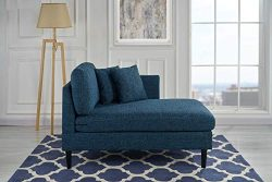 Classic Living Room Linen Fabric Chaise Lounge (Blue)
