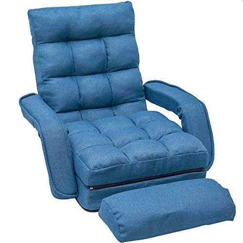 Merax Chaise Lounges Folding Lazy Floor Chair Sofa Lounger