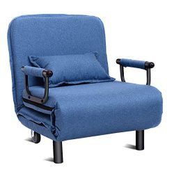 Giantex 26.5″ Convertible Sofa Bed Folding Arm Chair Sleeper Leisure Recliner Lounge Couch ...
