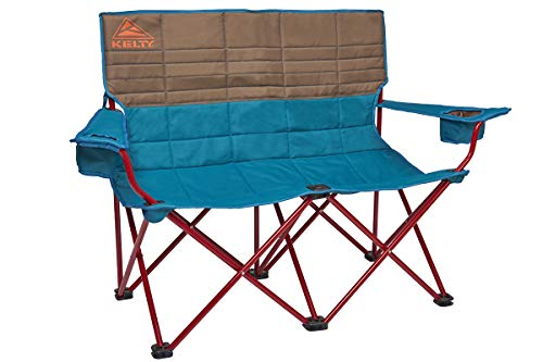 Kelty Loveseat Camping Chair, Deep Lake/Fallen Rock – Folding Double Camp Chair for Festivals, C ...