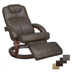 RecPro Charles 28″ RV Euro Chair Recliner Modern Design RV Furniture (1, Chestnut)