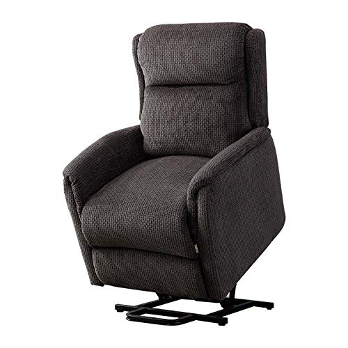 BONZY Lift Chair Recliner for Elderly Power Help Standing with Remote Control Soft and Warm Fabr ...