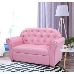 Kids Princess Armrest Lounge Couch Chair Sofa Children Toddler Gift Flip Open Loveseat Armchair  ...