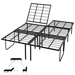 HOFISH 14 Inches Verstile Mattress Foundation,Head Adjustable Bed Frame,Convertible Sofa,3-in-1  ...