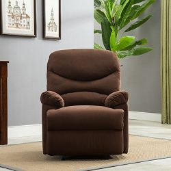 Belleze Microfiber Recliner Sofa Chair Home Office Reclining Positions Ergonomic Armrests/Footre ...