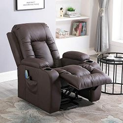 Massage Recliner Chair, 4HOMART Electric Power Lift Chair with Massage, Heat and Vibration 160 D ...