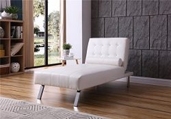 NHI Express 90026-11WT Convertible Chaise Lounger, Sitting 63L 33H Sleeping Dimensions: 69.5L x  ...