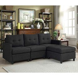 Bliss Brands Modular Sectional Sofa Sets Assemble Living Room Furniture Sofas Loveseat Bundle Se ...