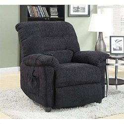 Coaster Home Furnishings Upholstered Power Lift Recliner Grey
