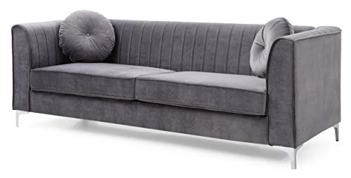 Glory Furniture Delray G790A-S Sofa, Gray. Living Room Furniture 32″ H x 76″ W x 34& ...