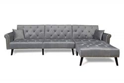 Harper & Bright Designs Sofa Bed Set Sectional Sofa Living Room Furniture Sofa Set Sleeper C ...