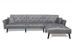 Harper & Bright Designs Sofa Bed Set Sectional Sofa Living Room Furniture Sofa Set Sleeper C ...