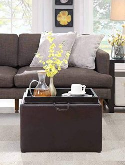 Convenience Concepts 143523ES Designs4Comfort Accent Storage Ottoman, Espresso