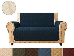 Sofa Cover, Reversible Quilted Furniture Protector, Ideal Loveseat Slipcovers for Pets & Chi ...