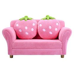 Costzon Children Sofa, Kids Couch Armrest Chair, Upholstered Living Room Furniture, Lounge Bed w ...