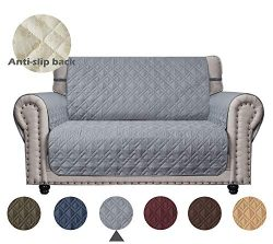 Ameritex Loveseat Cover Keep Your Couch Stain, Dirt & Scratches-Free (Pattern1:Light Grey, L ...