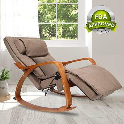 OWAYS Massage Chair 3D Full Back Massager with Cushion, Rocking Design Recliner Chair, Adjustabl ...
