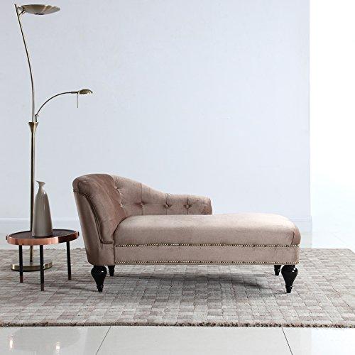 DIVANO ROMA FURNITURE Modern and Elegant Kid's Velvet Chaise Lounge for Living Room or Bed ...