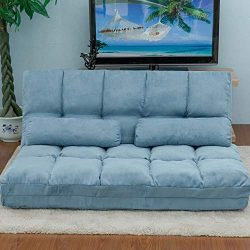 Adjustable Floor Couch and Sofa for Living Room and Bedroom, Foldable 5 Reclining Position with  ...