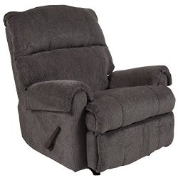Flash Furniture Contemporary Kelly Gray Super Soft Microfiber Rocker Recliner